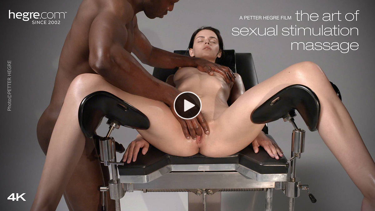 "Ariel and Mike in ""Sexual Stimulation Massage"" filmed by Petter Hegre"
